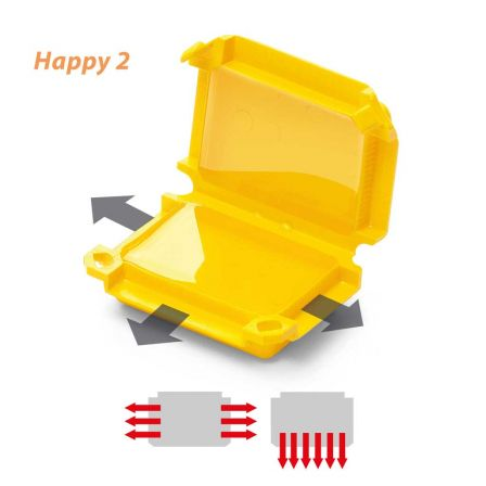Raytech Happy 2 Pre Filled Gel Box Yellow - Pack of 1