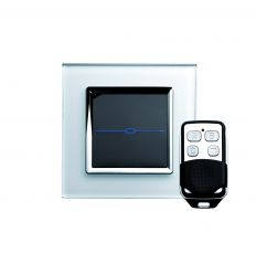 Retrotouch 00004 1 Gang Touch & Remote Light Switch 2 Way/Int White CT