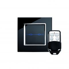 Retrotouch 00021 2 Gang Touch & Remote Light Switch Black CT