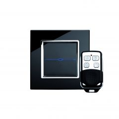 Retrotouch 00023 1 Gang Touch & Remote Light Switch 2 Way/Int Black CT