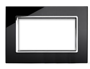 Retrotouch 00178 4 Gang Module Plate Black CT