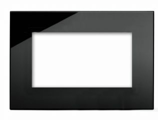 Retrotouch 00179 4 Gang Module Plate Black PG