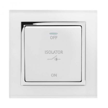 Retrotouch 01731 Crystal CT 3 Pole Fan Isolator Switch White