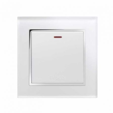 Retrotouch 01760 Crystal CT 13A Fused Spur Switch White