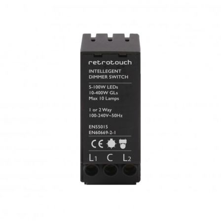 Retrotouch 07247 LED Intelligent Dimmer Module 5-150W 2 Way Push On/Off