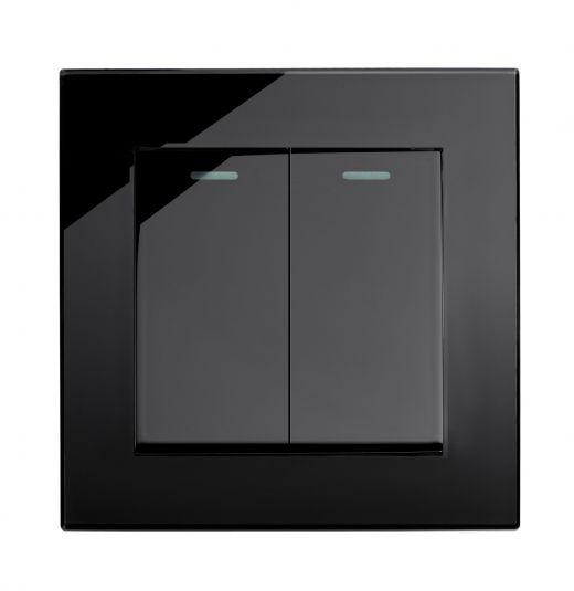 Black Plain Glass