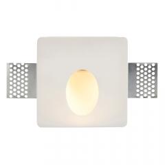 Saxby 92312 Zeke 1.5 Watt Square Plaster In Wall Light