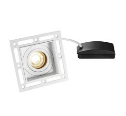 Saxby 78955 Trimless Square Adjustable GU10 Downlight