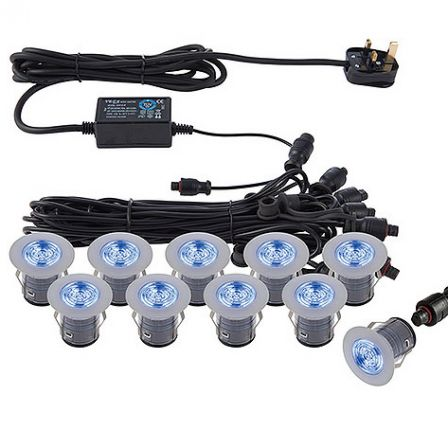 Saxby 59134 Ikon Pro Recessed Blue Decking Kit 35mm IP67