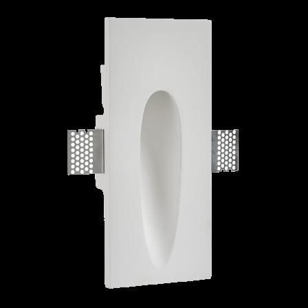 Saxby 92313 Zeke 1.5 Watt Rectangle Plaster In Wall Light