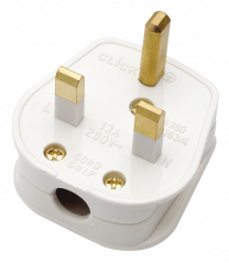 Scolmore PA380WH 13A Fused Non Standard Plug Top