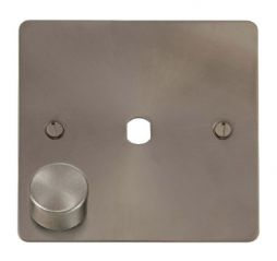 Scolmore Click Define FPBS140PL 1 Gang Dimmer Plate and Knob