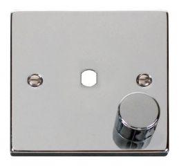 Scolmore Click Deco VPCH140PL 1 Gang Dimmer Plate & Knob