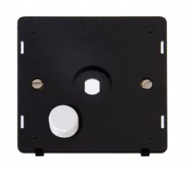 Scolmore Click Definity SIN141PL 1 Gang Dimmer Plate and Knob