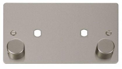Scolmore Click Define FPPN186 2 Gang Plate 2 Module (1630W Max)