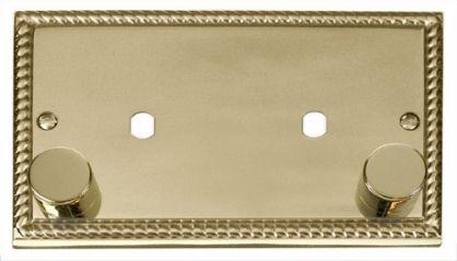 Scolmore Click Deco GCBR186 2 Gang Plate 2 Module (1630W Max)