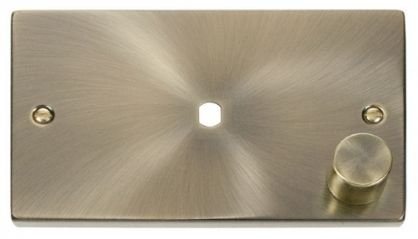 Scolmore Click Deco VPAB185 2 Gang Plate Single Aperture (1000W Max)