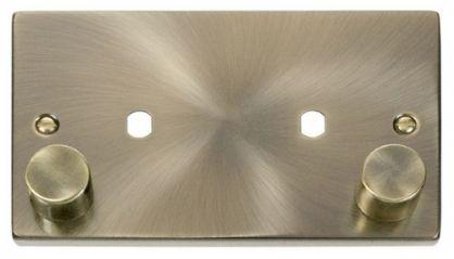 Scolmore Click Deco VPAB186 2 Gang Plate Twin Aperture (1630W Max)