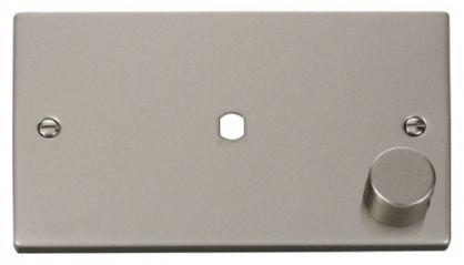 Scolmore Click Deco VPPN185 2 Gang Plate Single Aperture (1000W Max)