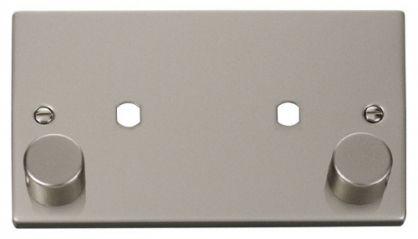 Scolmore Click Deco VPPN186 2 Gang Plate Twin Aperture (1630W Max)