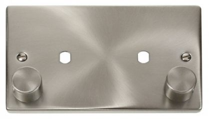 Scolmore Click Deco VPSC186 2 Gang Plate Twin Aperture (1630W Max)