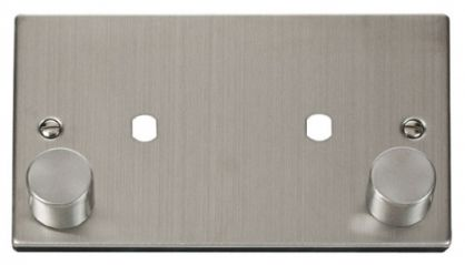 Scolmore Click Deco VPSS186 2 Gang Plate Twin Aperture (1630W Max)