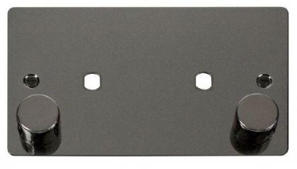 Scolmore Click Define FPBN186 2 Gang Plate 2 Module (1630W Max)
