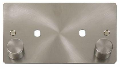 Scolmore Click Define FPBS186 2 Gang Plate 2 Module (1630W Max)
