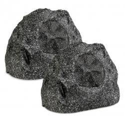 Retrotouch 01622 Outdoor Garden Rock Bluetooth Speaker Pair