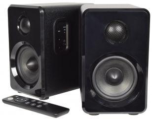 AVSL Bluetooth Active Bluetooth Bookshelf Speakers Black