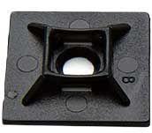 Niglon 4 Way Cable Tie Base Self Adhesive Black 19mm x 19mm
