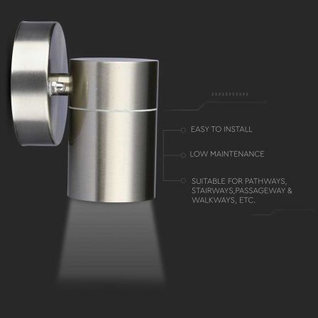 VTAC IP44 1 Way Stainless Steel Wall Light