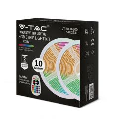 VTAC LED RGB Strip Light Kit 10 Meters with Power Adaptor & Dual Output IR Controller