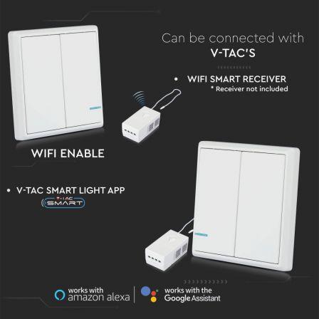 V-TAC 2 Gang Smart Wireless Light Switch White