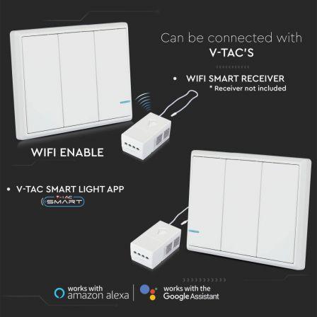 V-TAC 3 Gang Smart Wireless Light Switch White