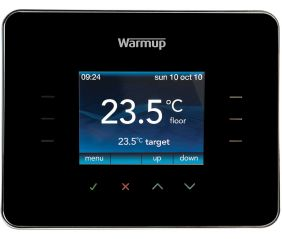 Warmup 3iE Energy Monitoring Thermostat Piano Black