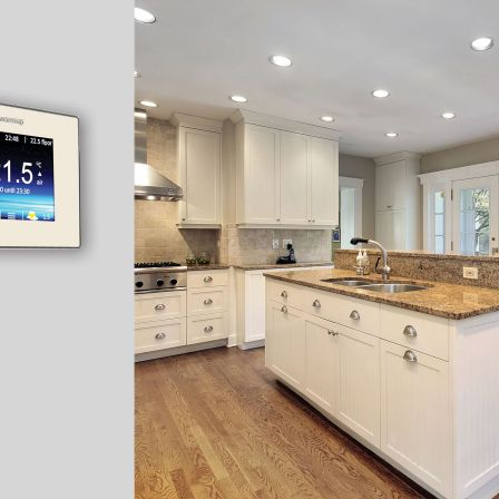 Warmup 4iE Smart WiFi Thermostat Bright Porcelain