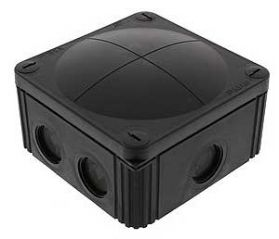 Wiska COMBI 607/5 Junction Box with Terminal Black 110x110x66mm