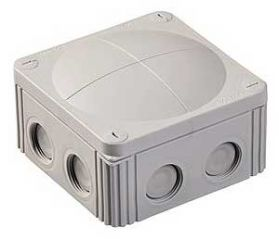 Wiska COMBI 607/5 Junction Box with Terminal Grey 110x110x66mm