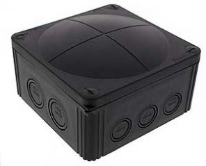 Wiska COMBI 1010/5 Junction Box with Terminal Black 140x140x82mm