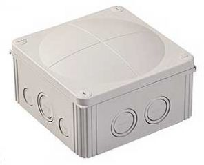 Wiska COMBI 1010/5 Junction Box with Terminal Grey 140x140x82mm