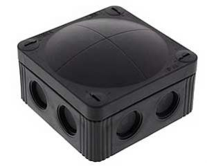 Wiska COMBI 308/5 Junction Box with Terminal Black 85x85x51mm