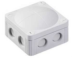 Wiska COMBI 308/5 Junction Box with Terminal Grey 85x85x51mm