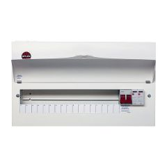 Wylex NM1706FLEXS 18th Edition 17 Way Consumer Unit c/w 100A DP Main Switch & Type 2 SPD