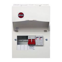 Wylex NM306FLEXS 18th Edition 3 Way Consumer Unit c/w 100A DP Main Switch & Type 2 SPD