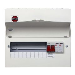 Wylex NM906FLEXS 18th Edition 9 Way Consumer Unit c/w 100A DP Main Switch & Type 2 SPD