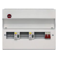 Wylex Fully Loaded Amendment 3 10 Ways Dual RCD Consumer Unit
