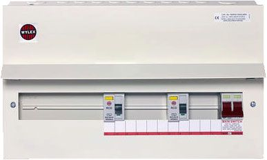 Wylex Fully Loaded Amendment 3 15 Ways Dual RCD Consumer Unit