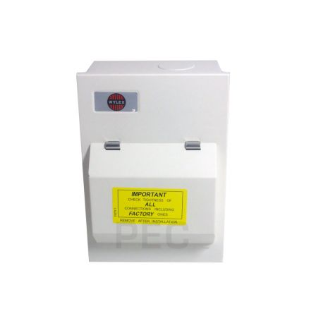 Wylex NMRS206/63 Amendment 3 2 Way Consumer Unit c/w 63A DP 30mA RCD