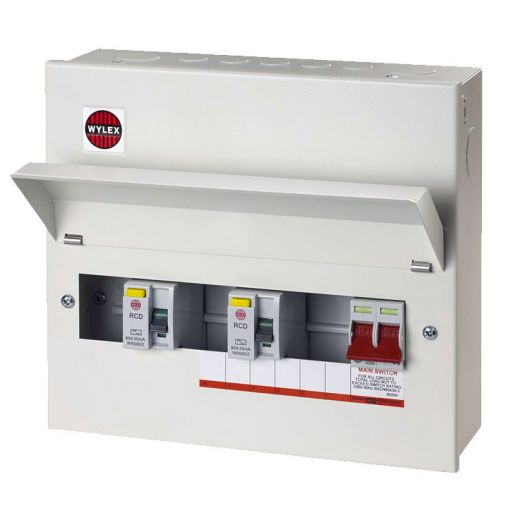 WYLEX Consumer Unit & Accessories, Dual RCD Consumer Unit - PEC Lights